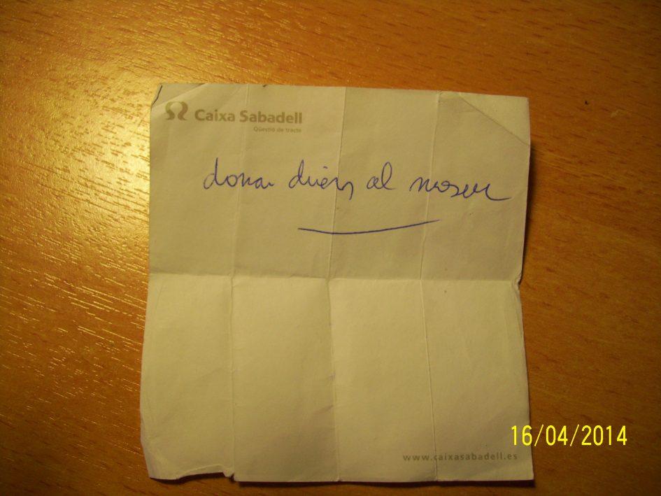 Lletra Assumpcio Curós Puigvert