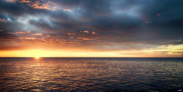 sol mar cielo